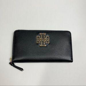 Tory Burch Britten Zip Continental Wallet Black